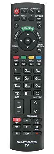 ALLIMITY N2QAYB000753 Sub N2QAYB000673 Mando a Distancia reemplazado por Panasonic Viera Internet TV TX-L32D25BA TX-L32D25E TX-L32D28EP TX-L32D28ES TX-L32E30E TX-L32E31B TX-L32E5B TX-L32E5E TX-L32E5Y