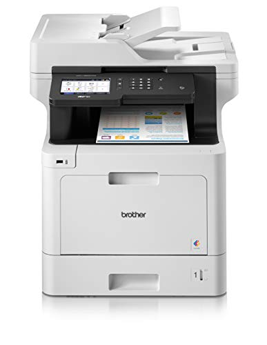 Brother MFC-L8900CDW Stampante Multifunzione Laser a Colori, con Fax, Velocità di Stampa 31 ppm, Stampa, Copia, Scansione e Fax Fronte/Retro Automatico, Rete Cablata, Wi-Fi e Wi-Fi Direct, NFC