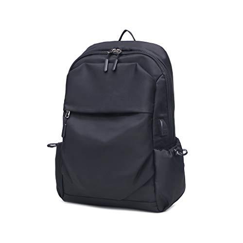 yinuiousory Herren 15,6 Zoll Laptop Rucksack, Kopfhörer USB Jack Casual Schultertasche Für Die Arbeit Sport