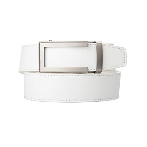 JJZSL Cinturón de Cuero con cinturón de trinquete Correa Correa para Hombre para Hombre Grande tamaño Grande para el cinturón de Golf del Hombre (Size : 125cm)