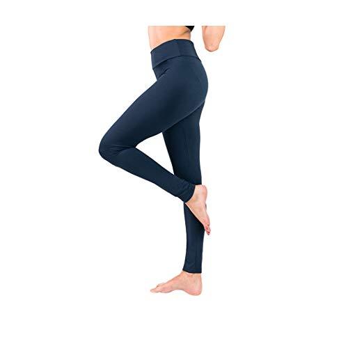 KKMAOAO Damen-Yogahose, modisch, milchseide, enganliegend, hohe elastische Leggings, hohe Taille, schlankmachend, Fitness-Hose, blau, Sporthose, Sommer, Outdoor, wild, einfach, Damen, XL, Farbe