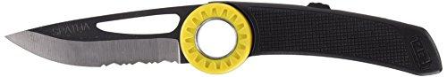 Petzl s92an trahho/Spatha Messer mit Karabiner Loch, schwarz/gelb