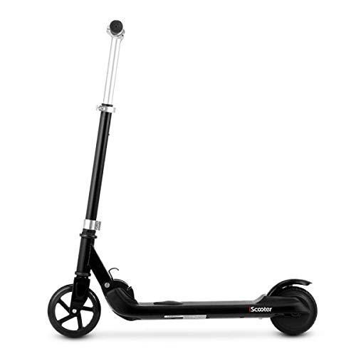 Patinete eléctrico plegable de eScooteroo, color azul, rosa y negro, 5 pulgadas,...