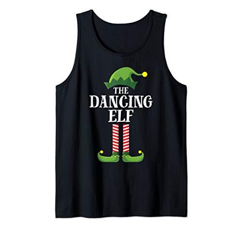 Dancing Elf Matching Family Group Christmas Party Pajama Tank Top