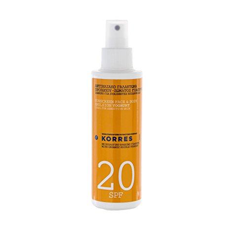 Korres Yoghurt Sonnenemulsion für Gesicht und Körper SPF 20,1er Pack (1 x 150 ml)