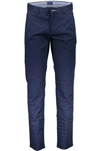 GANT Herren The Tech Prep Slim Fit Chino Hose, Business/Leger, Marineblau, 48/50 DE