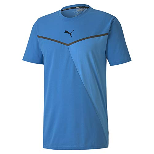 PUMA Herren T-Shirt Train Thermo R+ BND Short Sleeve Tee, NRGY Blue, S, 519400