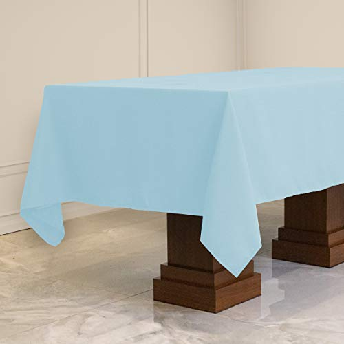 Kadut Rectangle Tablecloth (70 x 120 Inch) Ivory Rectangular Table Cloth for 6 or 8 Foot Table | Heavy Duty | Stain Proof Table Cloth for Parties, Weddings, Kitchen, Wrinkle-Resistant Table Cover