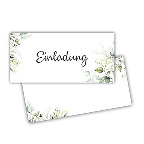 25 Einladungskarten Einladung zur Hochzeit Taufe Einladung Geburtstag Kommunion klassisches Design DIN lang