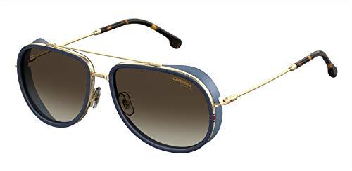 Carrera 166/S Gafas de sol, Multicolor (Blue Gold), 59 para Hombre