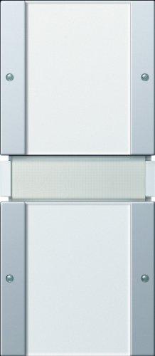 Gira 1012203 KNX Tastsensor 2, 2-Fach ohne Controller Gira E22, Aluminium