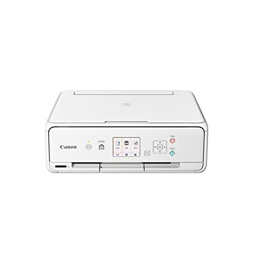 Canon PIXMA TS5051 Drucker Farbtintenstrahl Multifunktionsgerät DIN A4 (Scanner, Kopierer, Fotodruck, 4.800 x 1.200 dpi, WLAN, 5 separate Tinten, Apple AirPrint, Print App) weiß