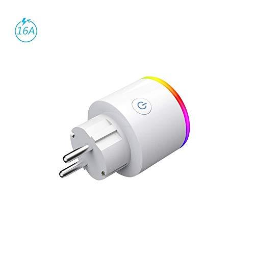 Enchufa Wifi Smart - EMC Group | con LED RGB y Control Consumo Eléctrico...