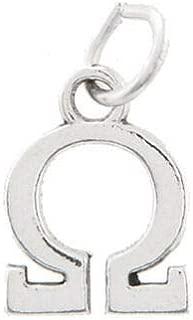 Sterling Silver Omega Greek Letter Charm Sorority Fraternity Pendant Bracelet Jewelry - Charm Crazy