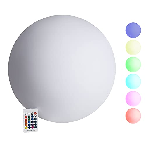 Garten LED Kugelleuchte mit Akku, Farbwechsel & USB-C Anschluss und Funktion, Outdoor Kugelleuchten - Leuchtkugel Kugelleuchten außen & innen (40cm)