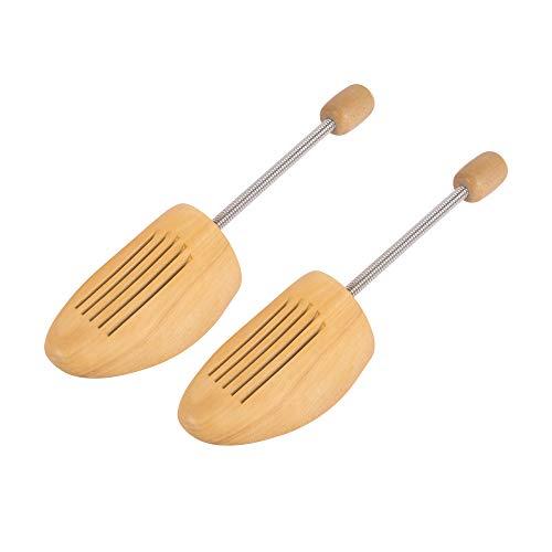 Edaygo Schuhspanner aus Lotusholz mit Spiralfeder für Damen & Herren, Größe: 39-40, 3 Paar