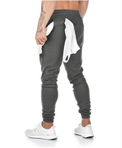 Spring Joggers Men Sweatpants Streetwear Cotton Comfortable Run Work Out Tracksuit Pants Multifunction Trousers Dark Grey L