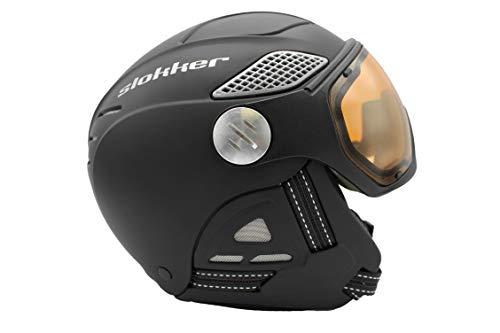 Slokker Raider pro Black Visor Skihelm 2019/2020 (58 cm - 60 cm)