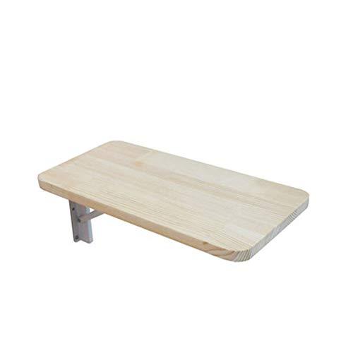JINBAO Mesa Plegable de Pared Perforada Fácil de Limpiar Impermeable a Prueba de Humedad Mesa Colgante Sala de Estudio Dormitorio Cocina Baño-Color Madera