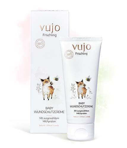 vujo Frischling Baby Wundschutzcreme Windelcreme - zertifizierte Naturkosmetik aus Deutschland, parfümfrei (75 ml)