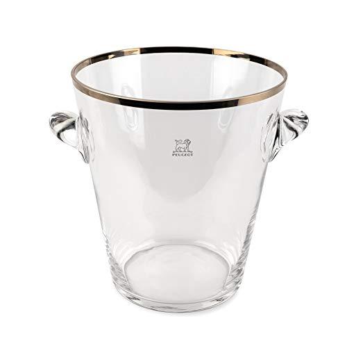 Peugeot Seau à champagne En verre avec finition platinium, 22cm (220075)