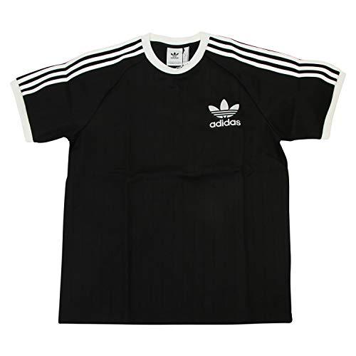 adidas Baseball tee Camiseta de Manga Corta, Hombre, Black/White, M
