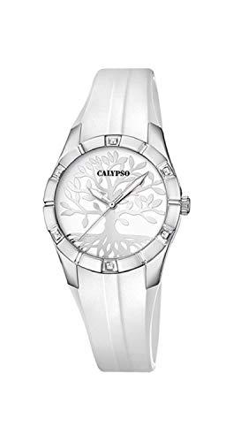 Calypso Orologio Trendy - K5716/A - Albero della vita - Bianco e Argento - 32 mm
