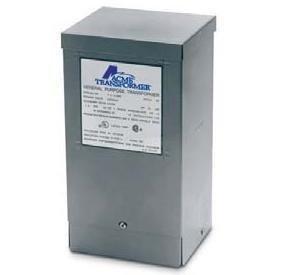 Acme Electric T279743S Dry Type Distribution Transformer, Single Phase, 120V/208V/240V/277V Primary Volts, 120V/240V Secondary Volts, 60 Hz, 3 kVA