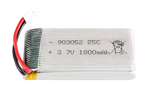 Grehod 3.7v 1800mAh batería lipo KY601S para SYMA X5 X5S X5C X5SC X5SH X5SW X5HW X5UW M18 H5P HQ898 H11D H11C batería de helicóptero White