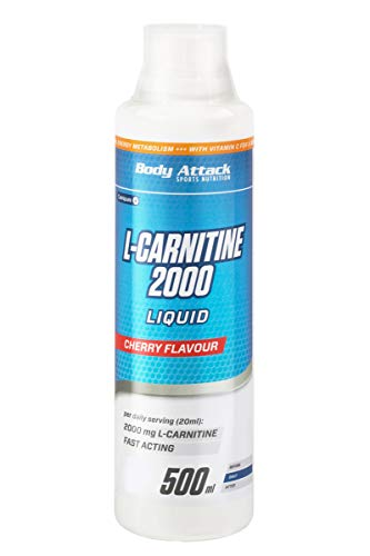 Body Attack L-Carnitine Liquid, oranje, 1 x 1 l fles.