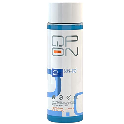 QP-ON 2.0 Highly Water Repellent Ceramic Car High End Coating | Waterproof for All Vehicle Parts Metal Aluminum Glass Plastic Stone Sealant 500ml (500ml / 16.9oz)