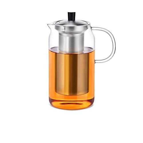 GONGFF Juego de té de Vidrio Taza Elegante Tetera Taza de té Engrosada Resistente al Calor con Filtro Máquina de té para el hogar Tetera de la Taza de la Ceremonia del té de la Oficina (Capacidad: