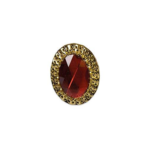 Frames - Anillo de estilo antiguo, oro y piedra roja, ref. Slave 41005