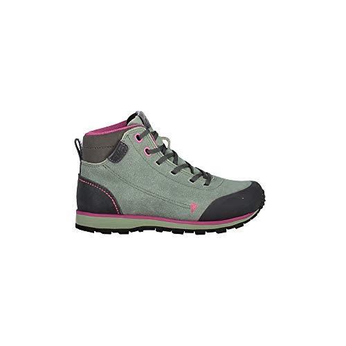 CMP wandelschoenen outdoorschoen Kids Elettra Mid Hiking Shoes groen effen kleuren
