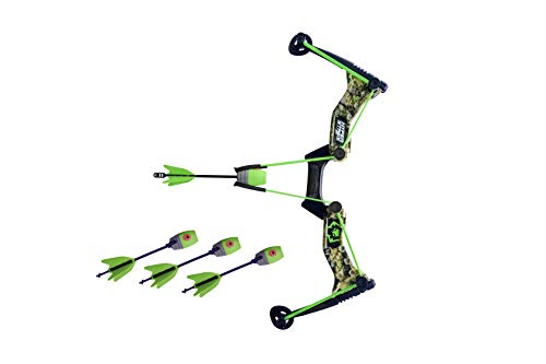 Zing Hyperstrike Bow and foam Arrows, Green Camo, with Incredible range of over 250ft. Great for long range outdoor play with friends and family. The Hyperstrike bow is perfect for safe fun!