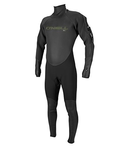 O'Neill Men's Fluid 3mm Neoprene Drysuit, Black/Graphite, Large