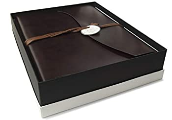 LEATHERKIND Romano Recycled Leather Photo Album Large Rustic - Handmade in Italy