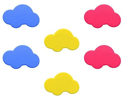 Hrbtag Pomos y Tiradores Infantiles, 6 Piezas Tiradores de Armario Colores Tiradores Modernos para Cajones Manijas Blandas para Guardarropas Cajones Puertas Ventanas para Evitar Golpes (3 Colo