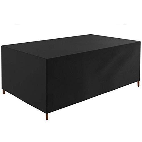 CTTAO Conjuntos de Muebles 200x200x85cm Resistente al Desgarro Anti Viento/UV, Funda Muebles Exterior Rectangular, para Sofás,Mesas y Sillas de Patio, Cubierta Protectora Exterior, Negro