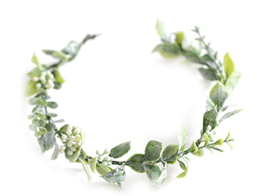 FIDDY898 Artificial Flower Headband Halo Headpiece Greenery Crown for Photo Prop-style 1