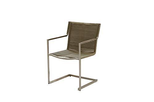 dynamic24 5tlg Tischgruppe Gartenmöbel Gartentisch Stuhl Garten Freischwinger Sessel Tisch