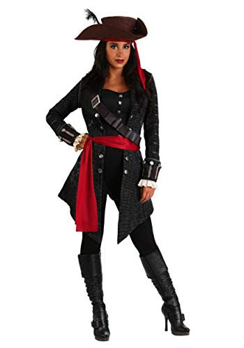 Women's Plus Size Fearless Pirate Fancy Dress Costume 2X