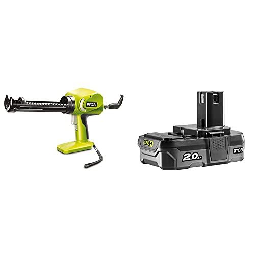Ryobi CCG1801MHG ONE+ Caulking Gun, 18 V (Body Only) & RB18L20 18V ONE+ Lithium+ 2.0Ah Battery
