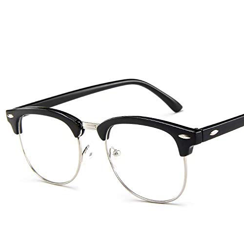 Doyime - Gafas de cristal transparente con montura negra