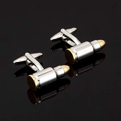 XKSWZD Gold Silber Bullet Manschettenknöpfe für Männer Roman Kupfer Manschettenknopf Hemd Manschettenknöpfe Hochzeitsgeschenk