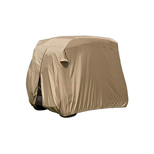 Classic Accessories Fairway Golf Cart Easy-On Cover, Tan, Fits Club Car Precedent, Yamaha Drive & EZ...