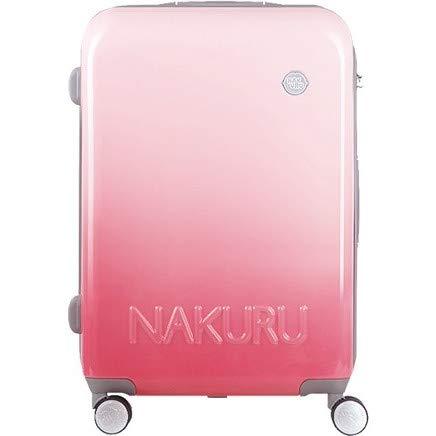 [NAKURU 2251] スーツケース レディース かわいい 軽量 ファスナータイプ ABS+PC 計8輪 Wキャスター ダイヤルロック (H, ピンク)