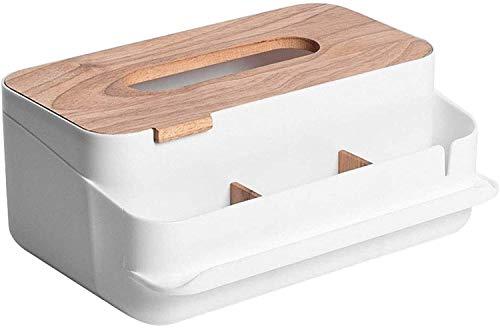 SDGDFGD Caja de pañuelos Dispensador de servilletas Caja de Tejidos plásticos multifuncionales multifuncionales Pañanos Decorativos Titular de la servilleta de Papel para la casa Baño Oficina Sala de