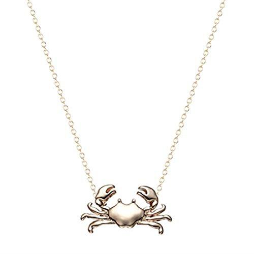 GYKMDF zilveren of gouden krab ketting, bedelketting, badgeschenk, krab hangertje