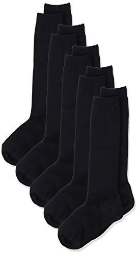 [セシール] ハイソックス(5足組セット) スクールソックス 抗菌防臭 キッズ 子供 靴下 SC-445 ネイビーA 21-24